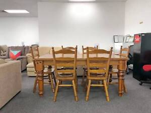 DELIVERY TODAY 7 pcs SOLID WOODEN dining table and chairs