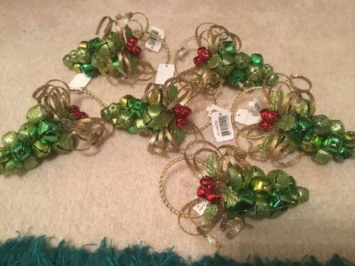 KATHERINES ORNAMENTS * LARGE GREEN GRAPE CLUSTER NAPKIN RINGS* GORGEOUS*SET OF 6