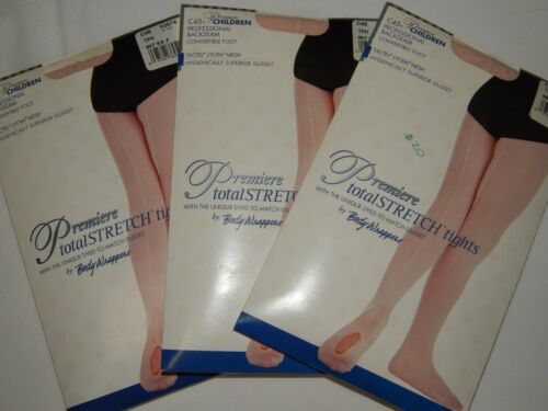 3 Body Wrappers Dance Tights S 6X 7 PINK TPK Convertible Back Seam Premier C45