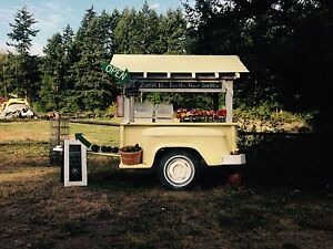 Farmers market food concession stand - Business trailer cart