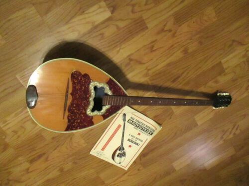 Vintage~BOUZOUKI Musical Instrument~8 String~w/Case & Book~Pre-Owned~1970