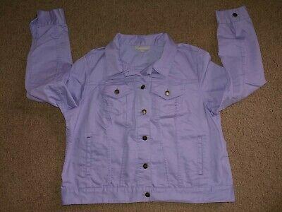 Woman Within: Lilac Denim Jacket - Women's Size 16W - NEW