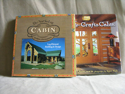 Log Home Set - Log Cabin Home Books Set 2 Hardback The Not So Log Cabin & Arts & Crafts Cabin