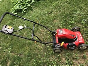 Smaller Homelite Cordless Rechargeable Lawnmower