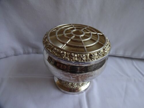 VINTAGE SILVER PLATED IANTHE POSY BOWL HEIGHT 10 cm x 10 cm