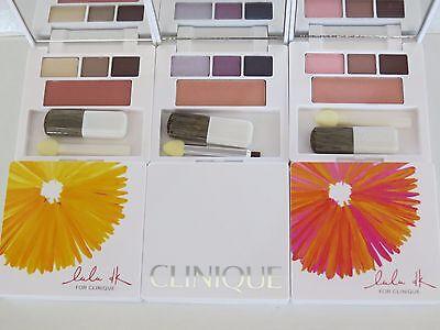 CLINIQUE 3Eyeshadow BLACKBERRY/PLUM/DARK/Strawberry/Neutral BLUSH Pink Blush/fig