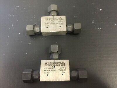 Autoclave Engineers Ctx6660-k Pressure Tee Fitting 20000 Psi 38