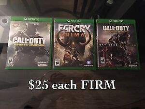 COD Infinite and advanced warfare, farcry primal $25 each XBOX1