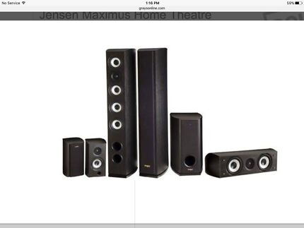Jensen Maximus Home Theatre Speaker System + Yamaha AV Receiver Charlestown Lake Macquarie Area Preview