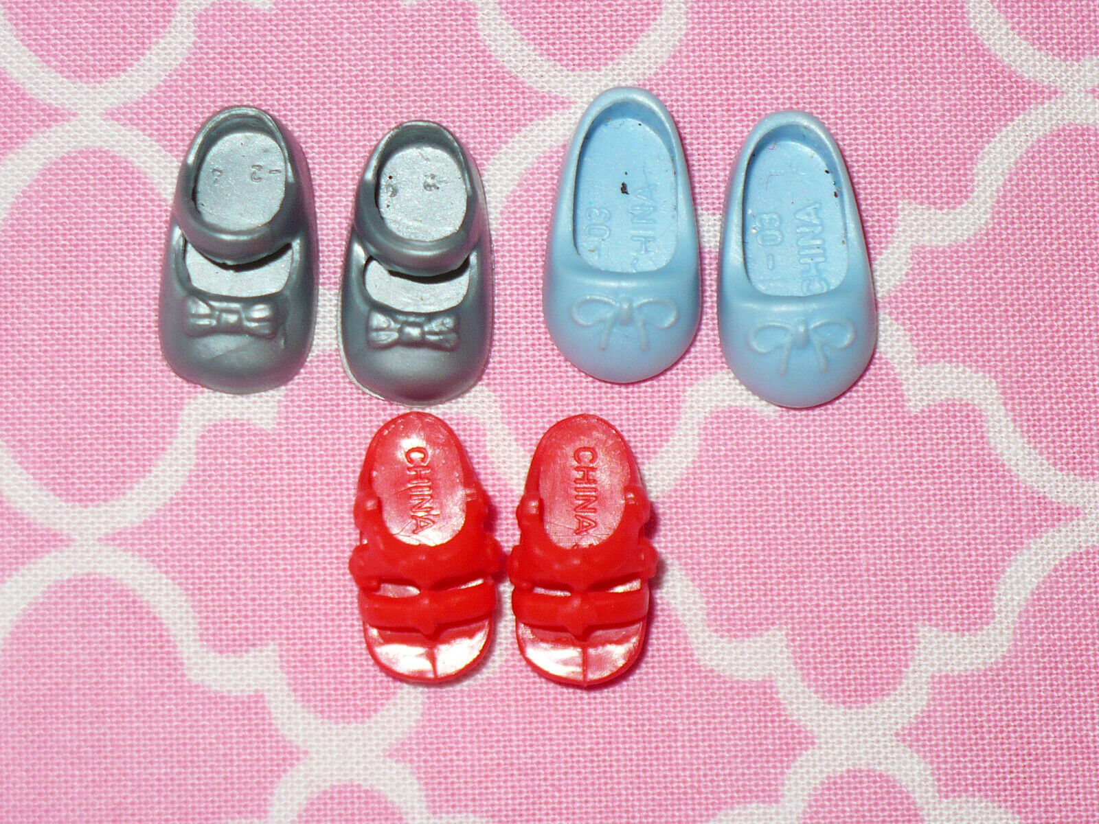 Mattel Barbie KELLY DOLL Vintage Shoes SRESS SHOES RED SANDALS Lot Of 3 Pairs - $19.99
