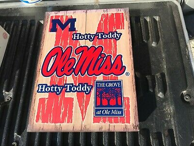 Mississippi Ole Miss Rebels Hotty Toddy Y'all decorative wood Like sign wall Ole Miss Rebels Wood