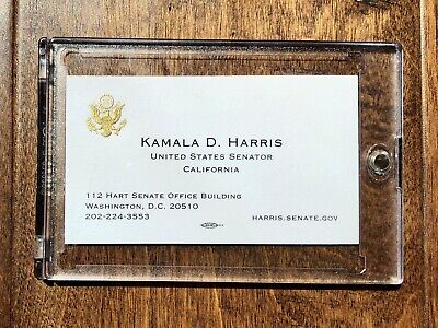 Kamala Harris Official Business Card, Vice-President Nominee! Includes Case!