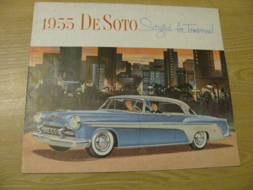 1955  DE SOTO  ORIG DEALER COLOR SALES BROCHURE FIREDOME  FIREFLITE   WITH SPECS