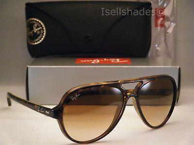 Ray Ban 4125 Cats 5000 Tortoise w Brown Gradient Lens (RB4125 (Ray Ban 5000)