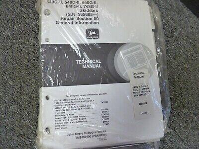 John Deere 540g-ii 548g-ii 640g-ii Skidder Shop Service Repair Manual Tm1694 New