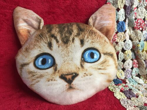 Tabby Cat Plus Pillow Realistic Photographic Image Kitten Soft Pillow