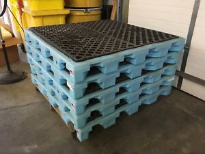 Spill Containment Workstations 4 Drum Spill Pallets