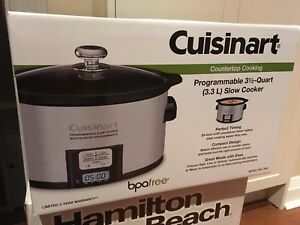 Slow Cooker BRAND NEW IN BOX Cuisinart