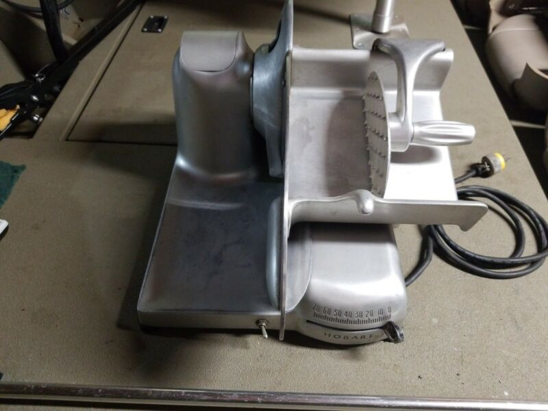 Hobart 410 Meat and Cheese Slicer complete with sharpener. LOOK!!
