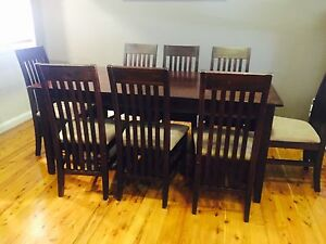 6-8 seater dining table and chairs Richmond Hawkesbury Area Preview