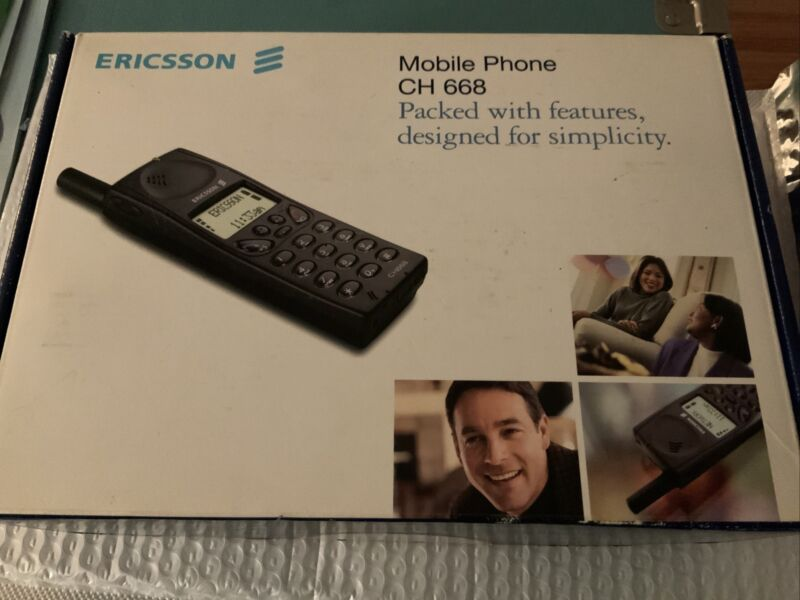 VTG Ericsson CH 668 Cellular Cell Phone Box Manuals Omnipoint Free Shipping