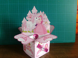 Birthday-Card-Princess-Handmade-3D-Box-Card