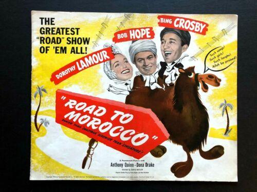 "Road to Morocco Original Movie Pressbook (1942) 28 Pages - 15"" x 12""  EX"