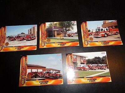 KENOSHA(WI)FIRE DEPT. TRADING CARDS-SET OF 5