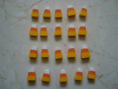 20 HANDMADE HALLOWEEN CANDY CORN BEADS HANDCRAFTED FROM CLAY *GREAT FOR JEWELRY* (Halloween Handcrafts)