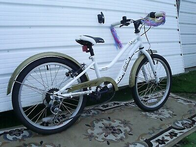 """GIRLS QUALITY 10"""" HALFORDS 6 SPEED SHIMANO BIKE 20"""" .SUIT 7-10 YRS no postage"""