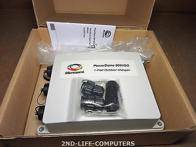 Microsemi PowerDsine PD-9001GO 12DC-ARB 1-Port PoE 802.3AT Outdoor Midspan NEW
