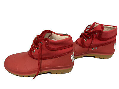 Fendissime Fendi Red Womens Sportswear Ankle Boots / Shoes  Size 7 Italy 37