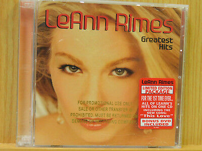 Leann Rimes Greatest Hits W Bonus Dvd Cd 2003 2 Discs Curb Limited Edition Promo