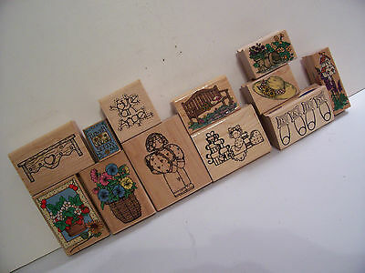Stamp on Wood,Hero Arts,Stampabilities,BABY,Flowers,Mommy to be,Angel,Bird House