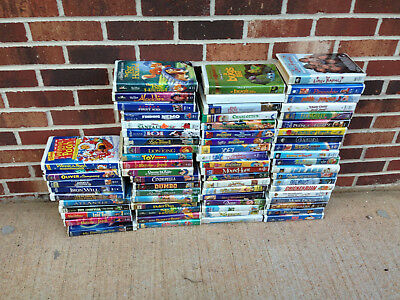 Huge Lot Of 68 Kids Vhs Tapes Videos Family And Disney Diamond Childrens Movies
