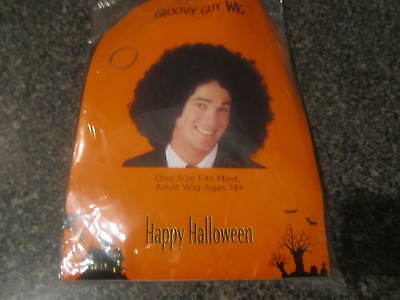 GROOVY GUY  BLACK CURLY WIG / AFRO ONE SIZE ADULTS AGES 14 & UP HALLOWEEN