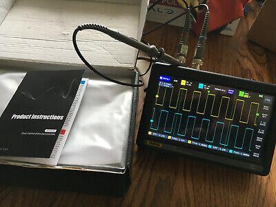 Fnirsi-1013d 7 Inch Oscilloscope 2 Ch 100mhz Bandwidth 1gsas Touchscreen
