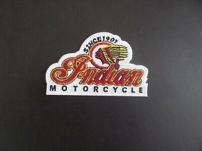 Vintage Indian motorcycle iron on patch embroidered collectible 2-1/2 x 4