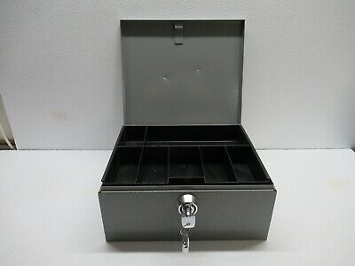 Buddy Products Metal Cash Box With Money Tray In Great Condition