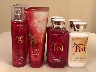 Bath & Body Works Forever Red Body Lotion Cream Shower Gel Fragrance Mist Pick