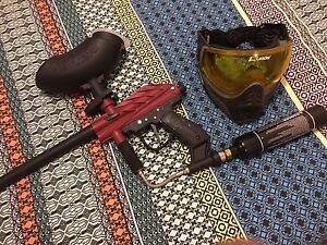Paintball marker tank hopper mask