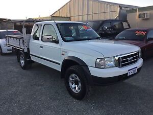 2003 Ford Courier xl 2.5 turbo diesel xtra cab 4x4 man Ute 4 door Silver Sands Mandurah Area Preview