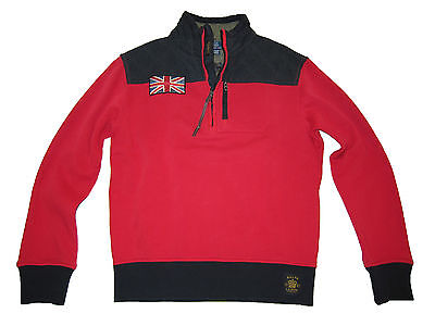 Polo Ralph Lauren Red Black Great Britain British Moto Racing Jacket Coat Large