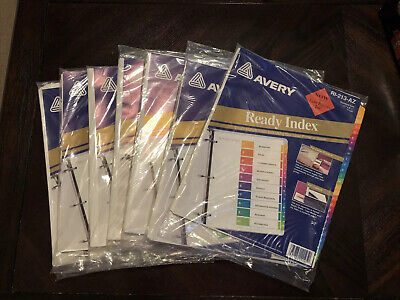Avery Ready Index A-z Tabs Lot 7 Packs 11125 Portrait Landscape Table Contents