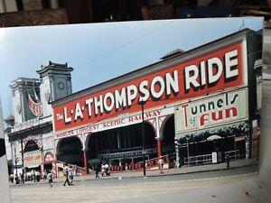 Amazing 1942 Color 8 x 12 photo Coney Island Brooklyn NYC Luna Park