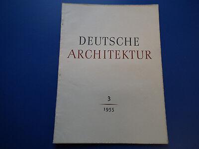 DDR Zeitschrift- Deutsche Architektur -3/1955-Bad Berka-Leipzig-Saalfeld Kranken