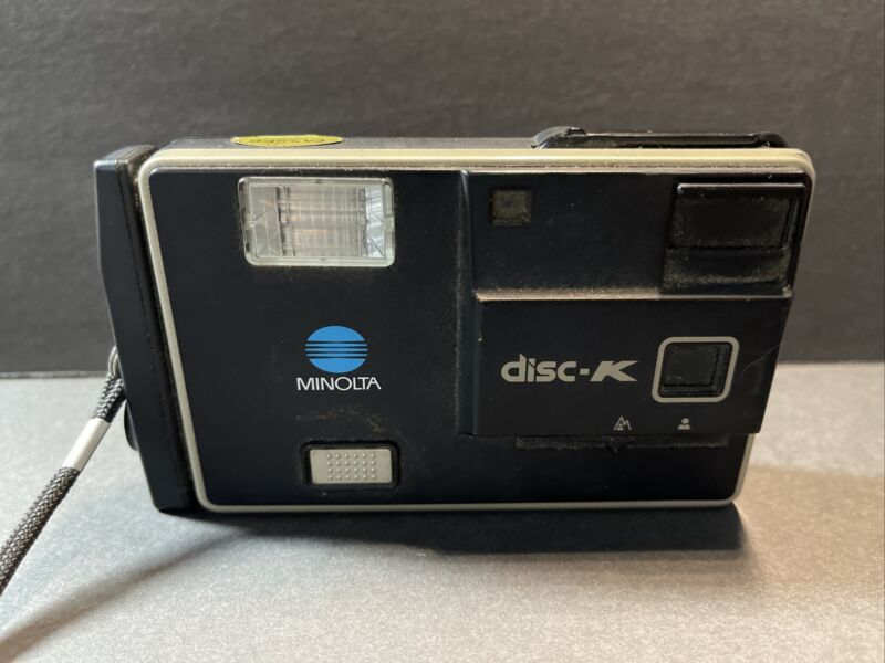 Vintage Minolta Disc-K Camera with Flash 1983