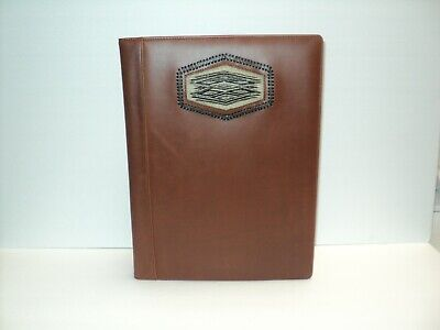 New Royal Crown Custom Leathers Padfolio Writing Pad Hitched Horsehair