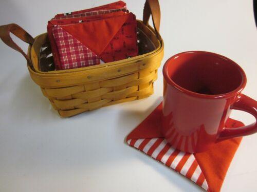 Longaberger Gift Basket   Beverage Coasters   12 Assorted   Home Sewn