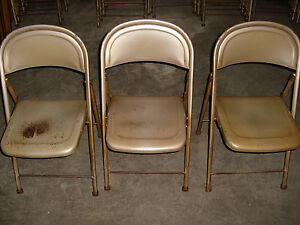 Used Metal Folding Chairs Ebay